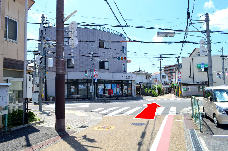大阪狭山市駅から狭山池への経路