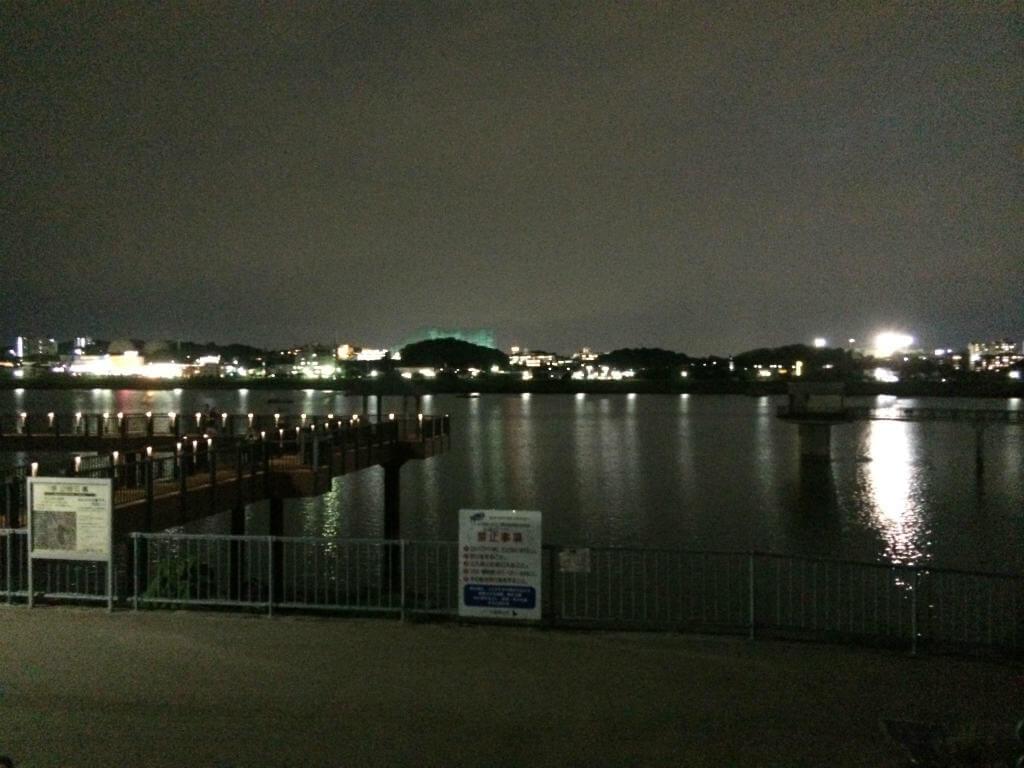 夜の狭山池