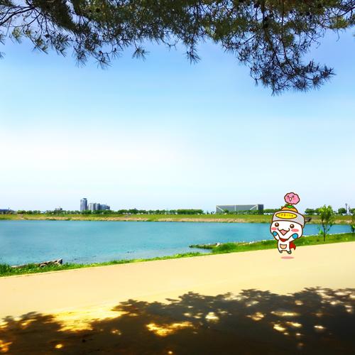 狭山池とさやポン