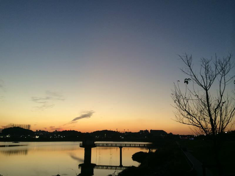 狭山池日没