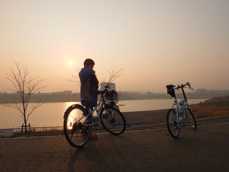あなたと狭山池『息子とサイクリング』
