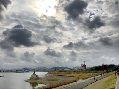 狭山池ダイナミック雲