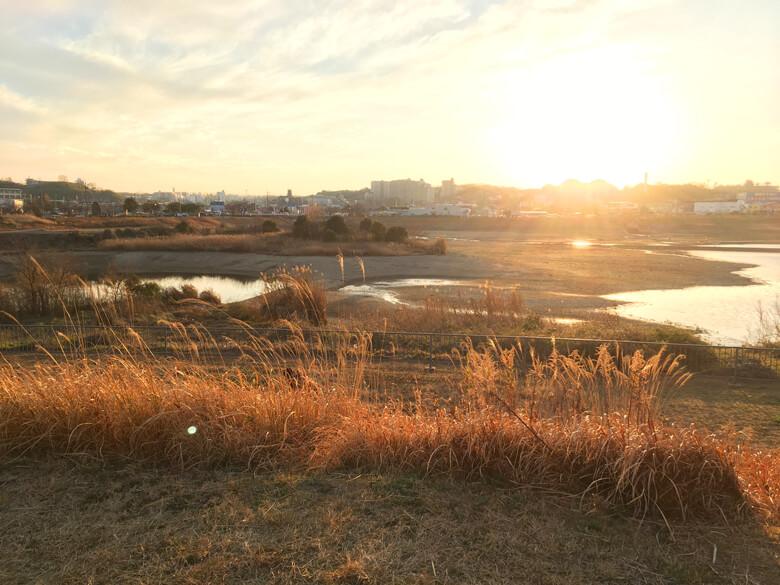 夕日色の狭山池