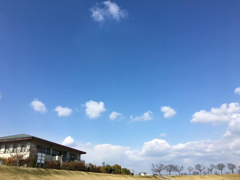 小さな雲たちが風に押されながらかけっこしてるポン(*´艸`*)