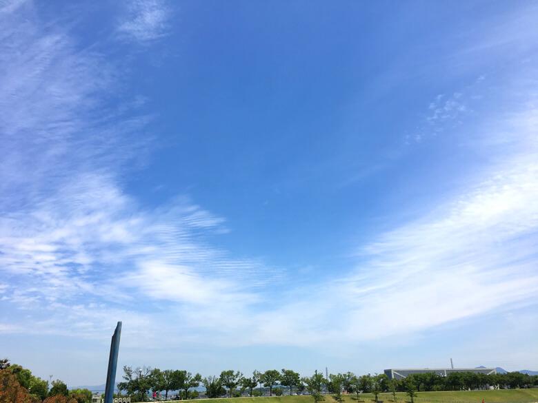 狭山池の空、青いポ~ン☆