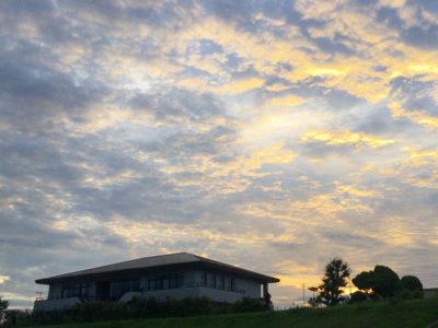 狭山池夕日