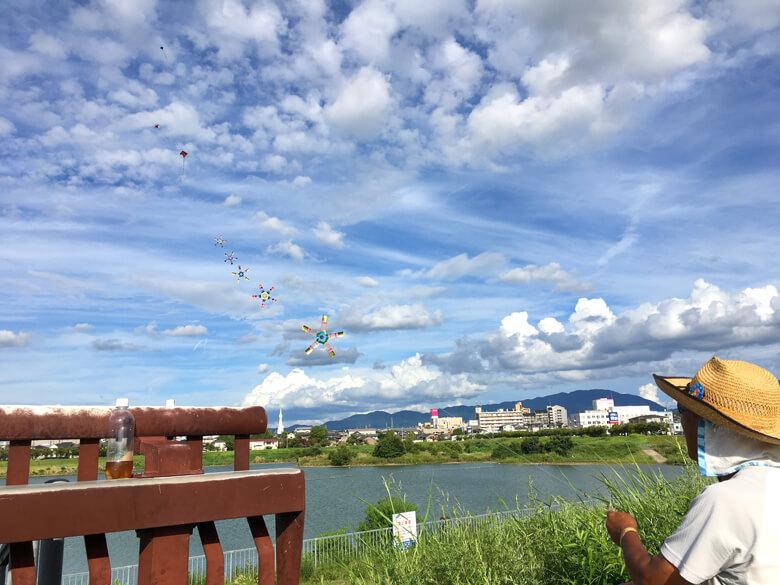 狭山池の連凧