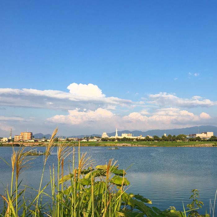 狭山池の夕方