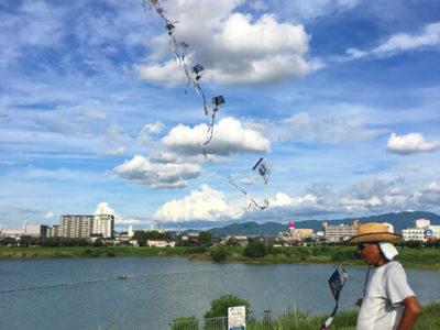 狭山池の連凧おじさん