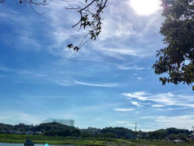 狭山池の青空