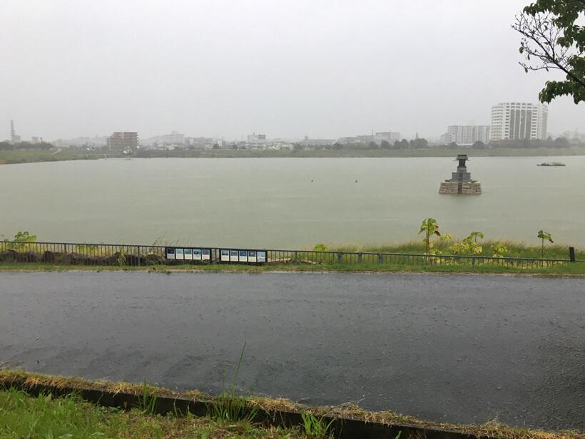 狭山池に台風がポン(・ω・)