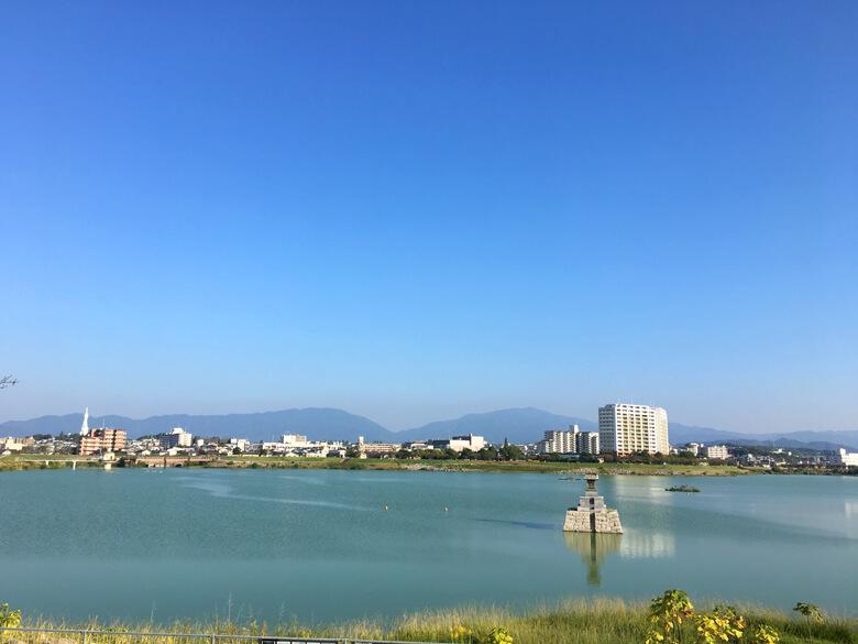 遠くの山、モヤモヤ~だポン☆