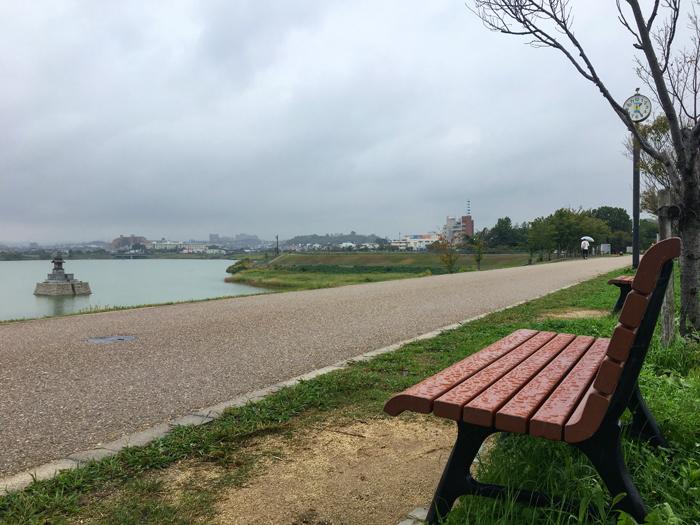 雨の狭山池