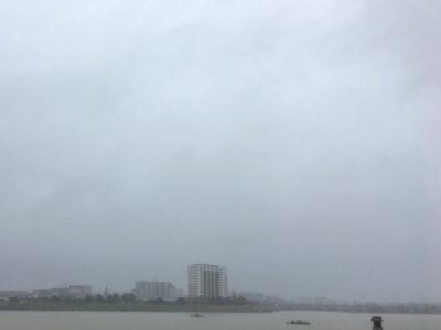 狭山池、台風22号