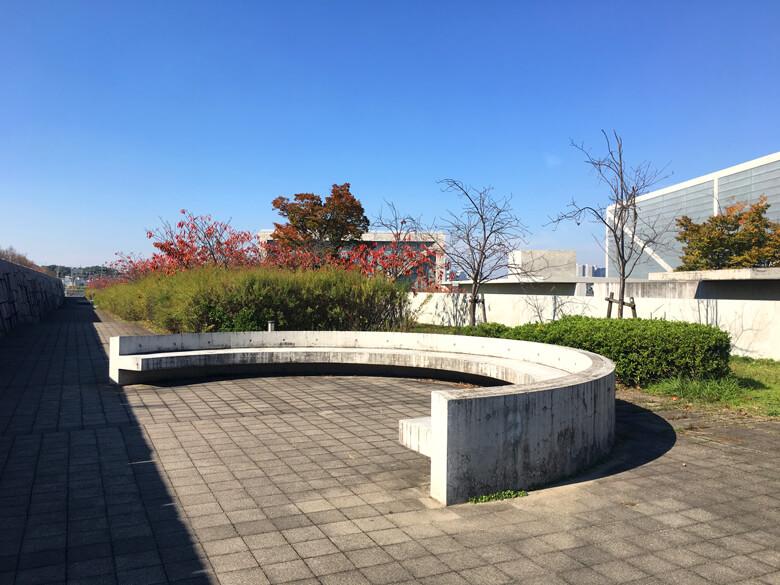 博物館のまわりも、赤い葉っぱがポーン♪ヽ(*^ω^*)ノ