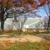 狭山池博物館と紅葉