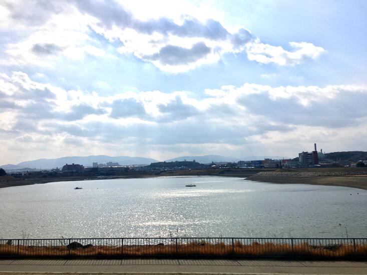 太陽ピカーン☆ 狭山池キラキラだポン☆