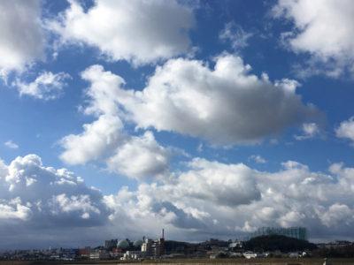狭山池モクモク雲