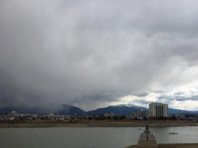 金剛山にかかる雲