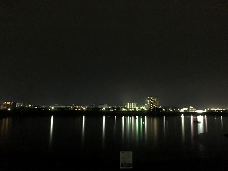 夜の狭山池だポン☆