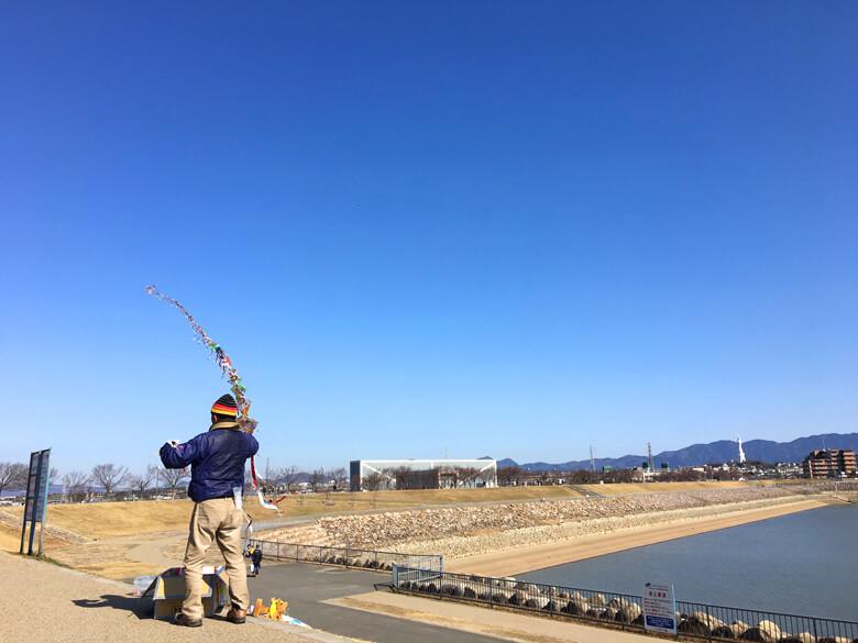 青い空、連凧あがってくポンよ〜☆