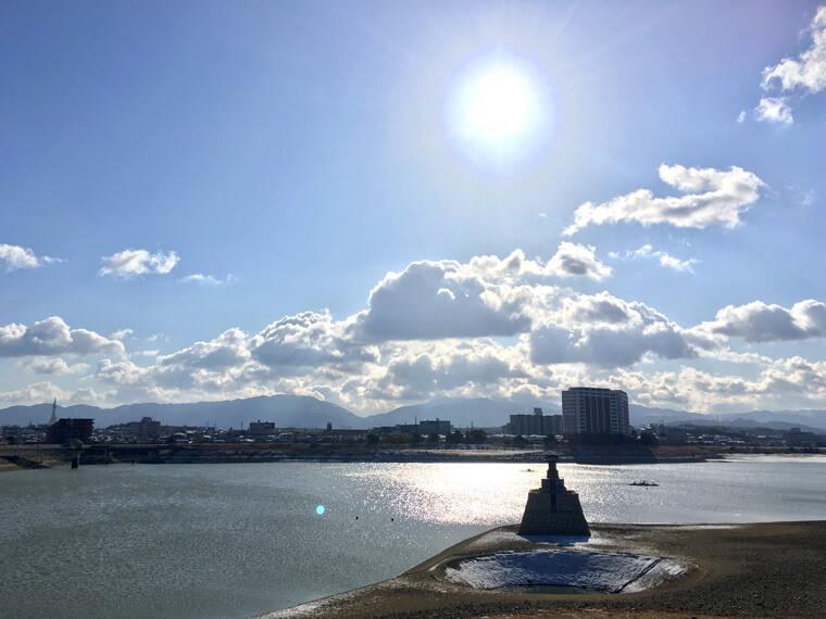 狭山池キラキラ〜☆金剛山雲もくもく〜だポンよ〜♪