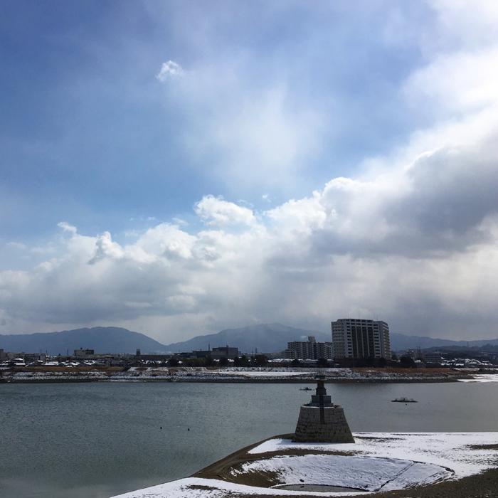狭山池雪景色