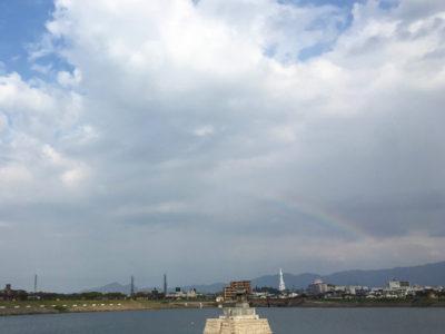 龍神社と虹