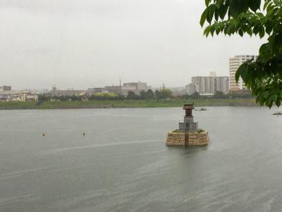 狭山池増水