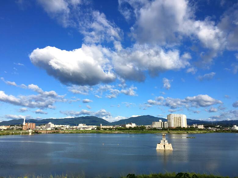 青い空♪山がキレイに見えるポーン☆