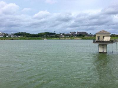 狭山池強風