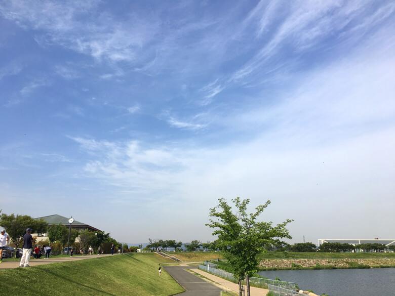 太陽ピカーン☆ ふわふわ雲だポーン♪