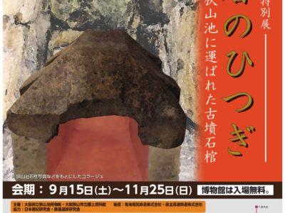王者のひつぎ-狭山池に運ばれた古墳石棺