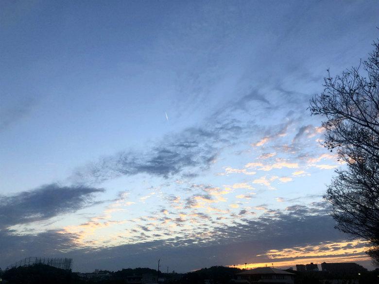 飛行機雲がポン☆