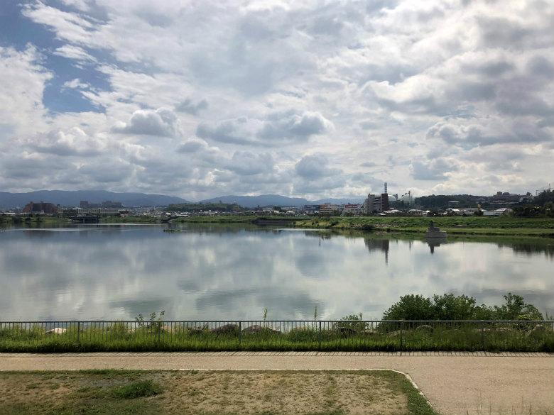 狭山池に雲☆映ってるポーン♪